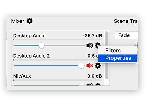 OBS Desktop Audio Properties